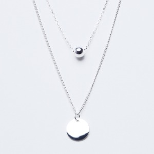 Circle Double Line Necklace
